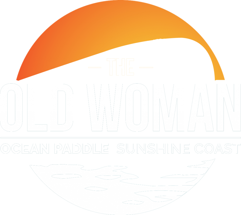 Old Woman Paddle Logo White